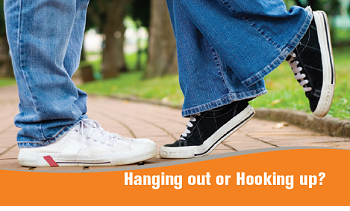 Hanging out or Hooking Up logo