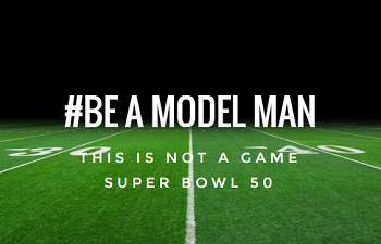 Be A Model Man campaign logo