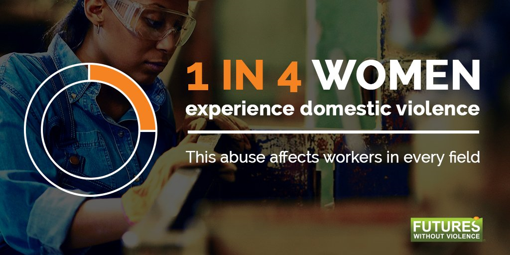 1 in 4 women experience domestic violence