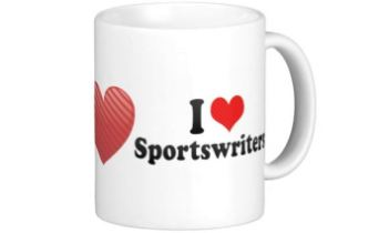 I love sports writers mug