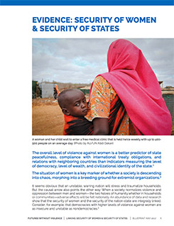 Evidence: Security of Women & Security of States