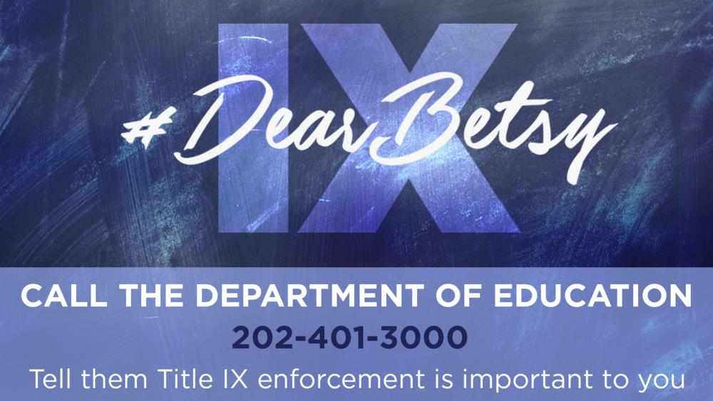 Title IX Dear Betsy