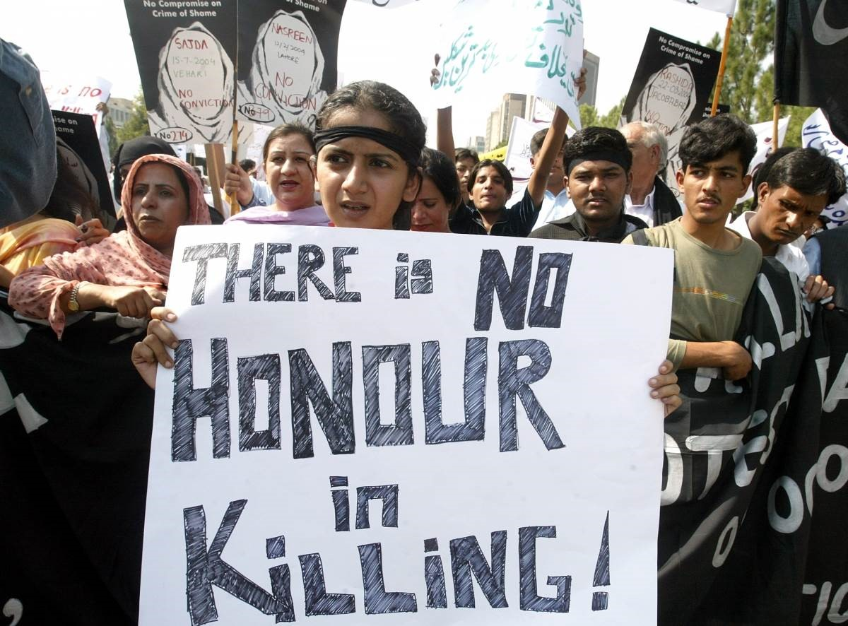 anti-honor killing sign